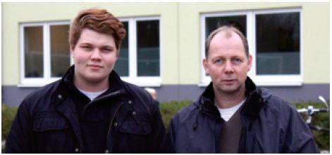 Hermann und Philipp Kallen - mit Weibchen auf der Siegerstraße...