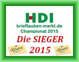 Die Gewinner des HDI brieftauben-markt Championats 2015 - Endstand...