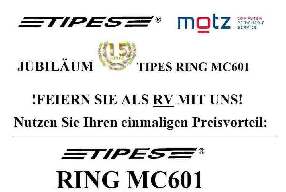 Jubiläum 15 Jahre TIPES RING MC601...