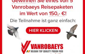 Machen Sie mit - Gewinnspiel der Firma VANROBAEYS - Nur noch wenige Tage...