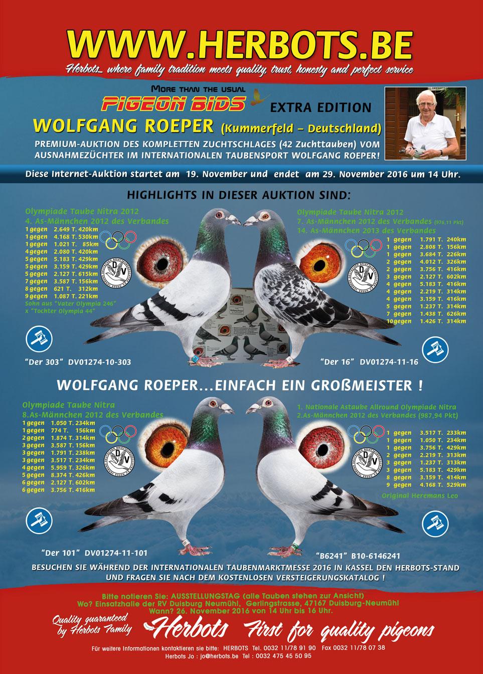 taubenmarkt the racing pigeon in october 2016 brieftauben. Black Bedroom Furniture Sets. Home Design Ideas