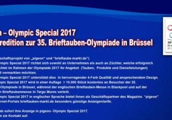 pigeon - Olympic Special Magazin 2017...