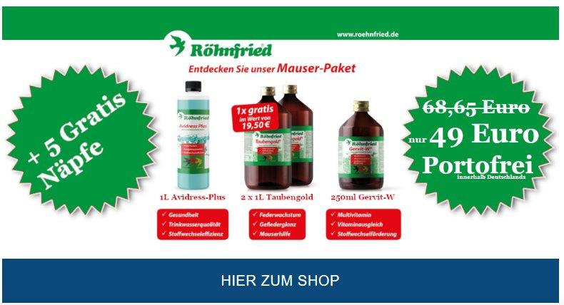 brieftaubenshop röhnfried mauser 2018