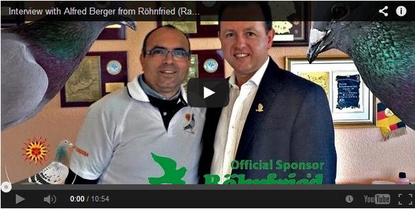 Rafael Ruz der Veranstalter vom One Loft Race Derby Cordoba führt ein Interview mit Alfred Berger