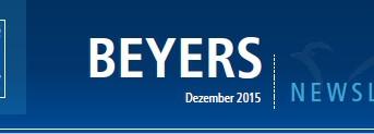 BEYERS newsletter Dezember 2015...