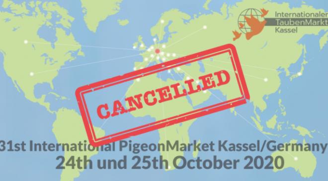Keinen Internationalen TaubenMarkt in Kassel in 2020...