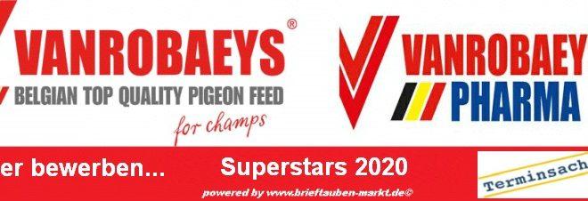 Fristverlängerung - VANROBAEYS Superstars 2020 - hier bewerben bis zum 15. Oktober 2020...